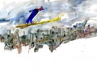 Ski Jump, Private commission