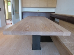 Dining table with built in seating, Bespoke Furniture for a Family Dining Area