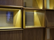 Storage Wall (Oak, Steel and Glass), Bespoke Storage Wall