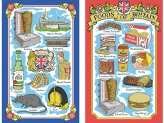 Shite Britain Souvenir Tea Towels, Tea Towel