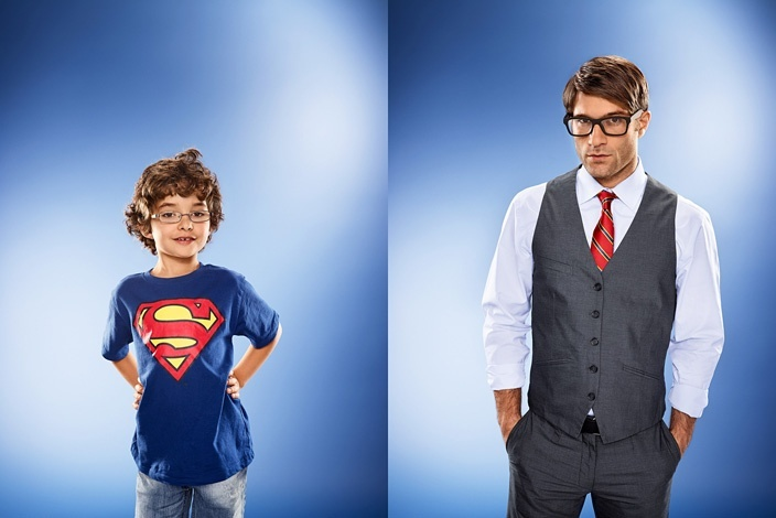 Young superman meets Clark Kent